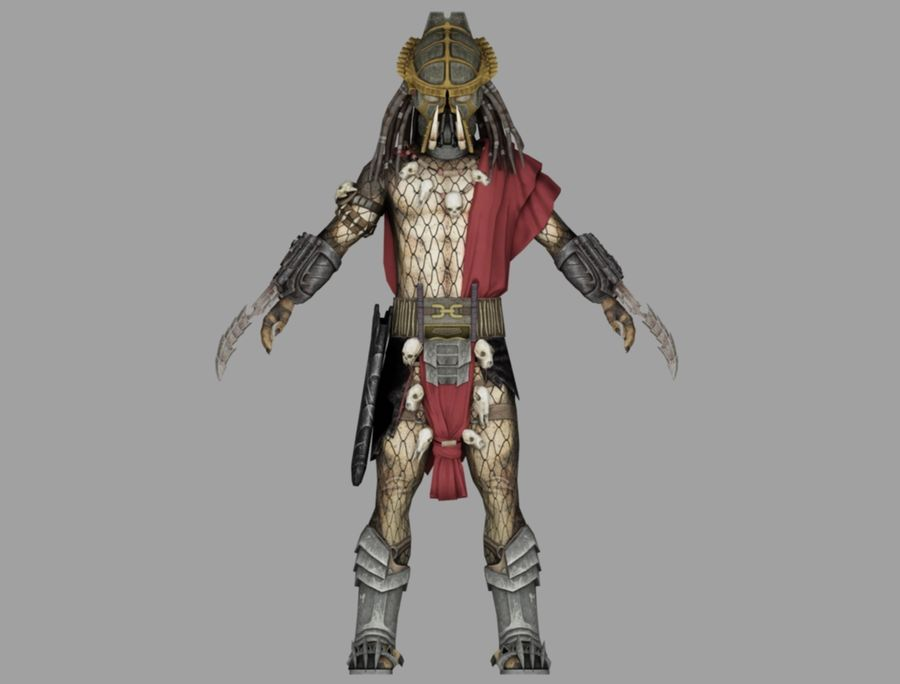 predator lord royalty-free 3d model - Preview no. 2