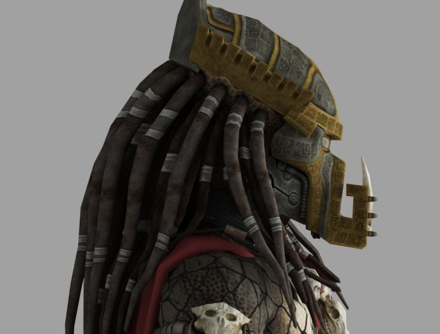 predator lord royalty-free 3d model - Preview no. 7