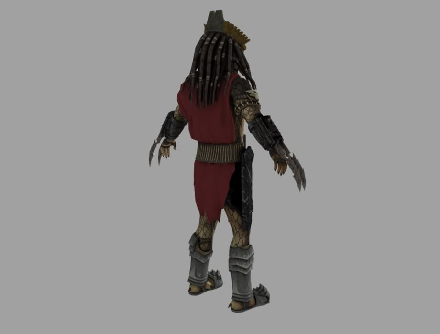 predator lord royalty-free 3d model - Preview no. 5