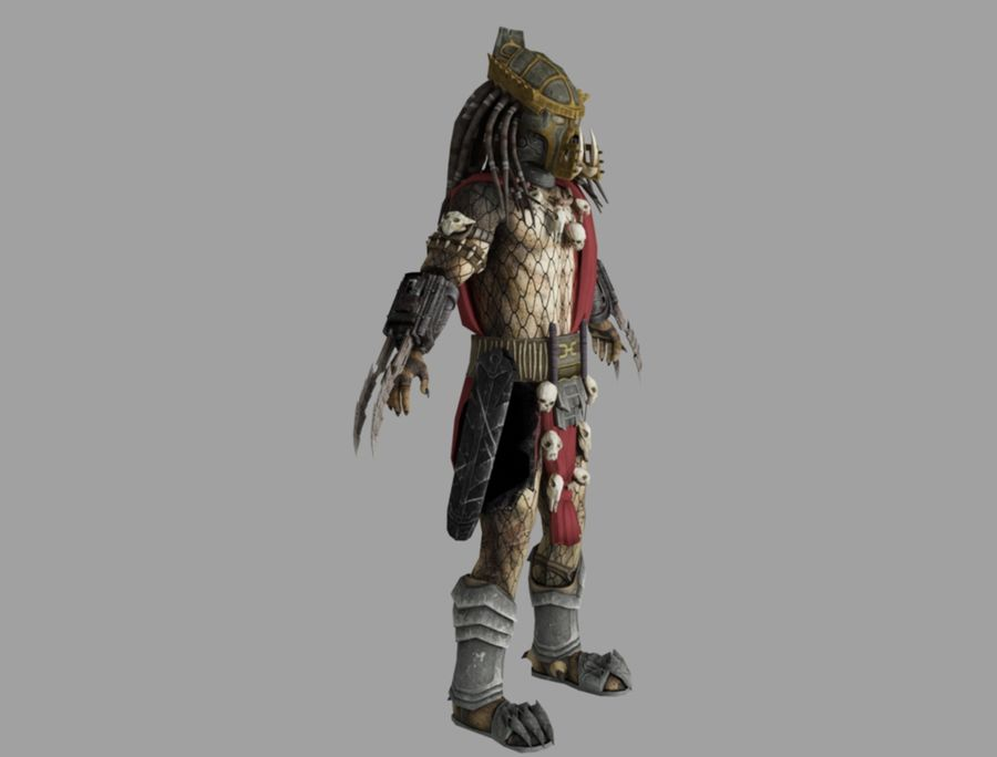predator lord royalty-free 3d model - Preview no. 3