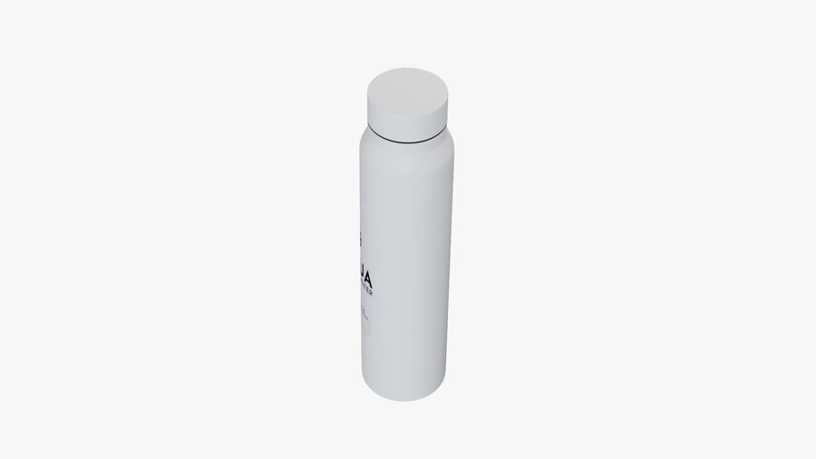 Aluminium Wasserflasche royalty-free 3d model - Preview no. 12