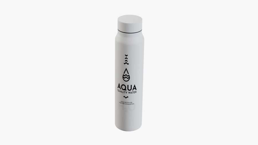 Aluminium Wasserflasche royalty-free 3d model - Preview no. 9