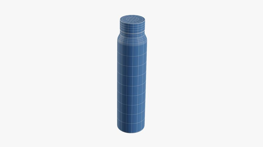 Aluminium Wasserflasche royalty-free 3d model - Preview no. 15