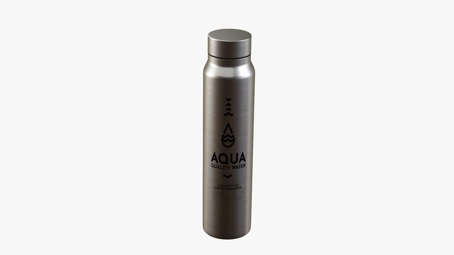 Aluminium Wasserflasche royalty-free 3d model - Preview no. 7