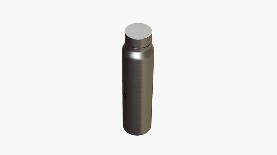 Aluminium Wasserflasche royalty-free 3d model - Preview no. 6