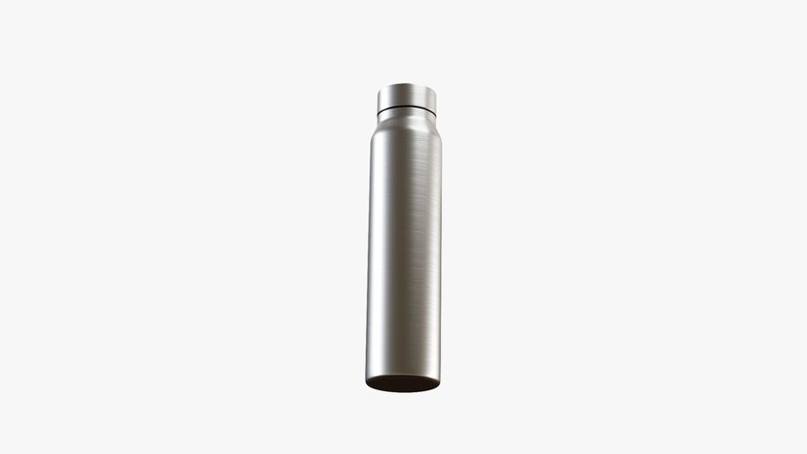 Aluminium Wasserflasche royalty-free 3d model - Preview no. 2