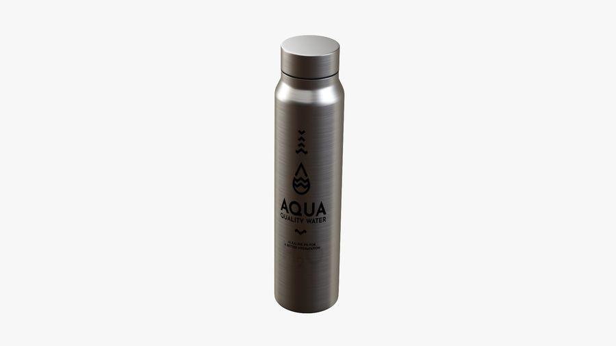 Aluminium Wasserflasche royalty-free 3d model - Preview no. 3