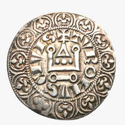 French silver tournose 1285 - 1314 medieval coin 3d model