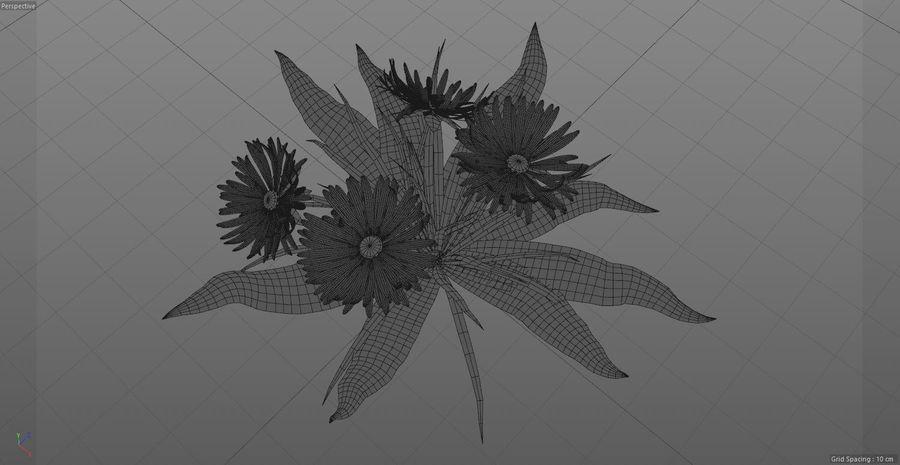 Одуванчик Желтый цветок royalty-free 3d model - Preview no. 3