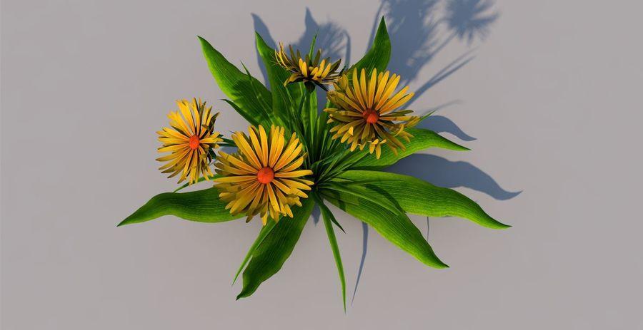 Одуванчик Желтый цветок royalty-free 3d model - Preview no. 1