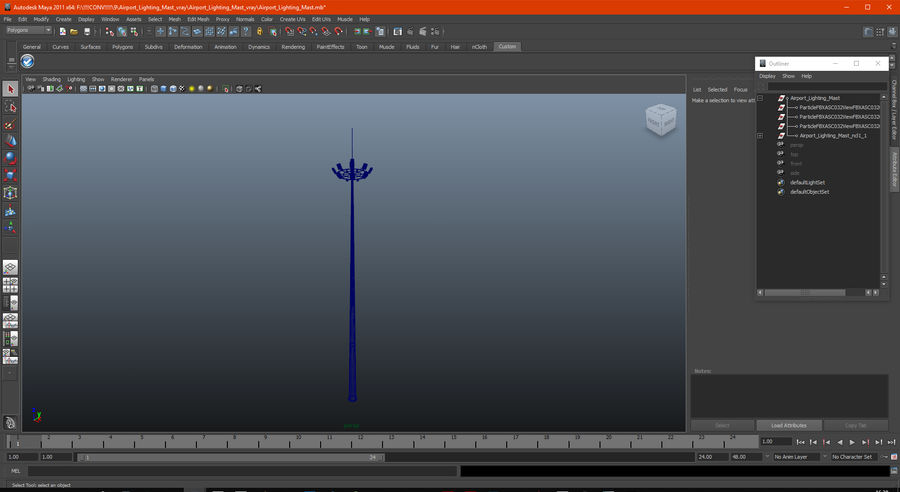 Airport Lighting Mast royalty-free 3d model - Preview no. 14