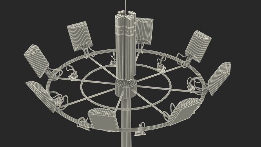 Airport Lighting Mast royalty-free 3d model - Preview no. 18