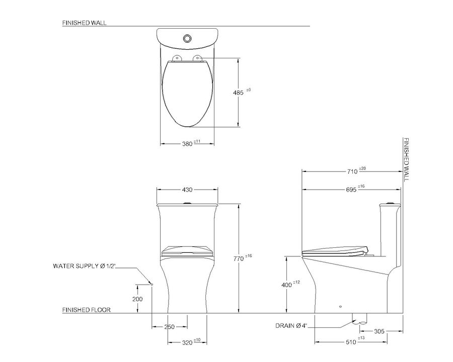 toilet(65) royalty-free 3d model - Preview no. 6