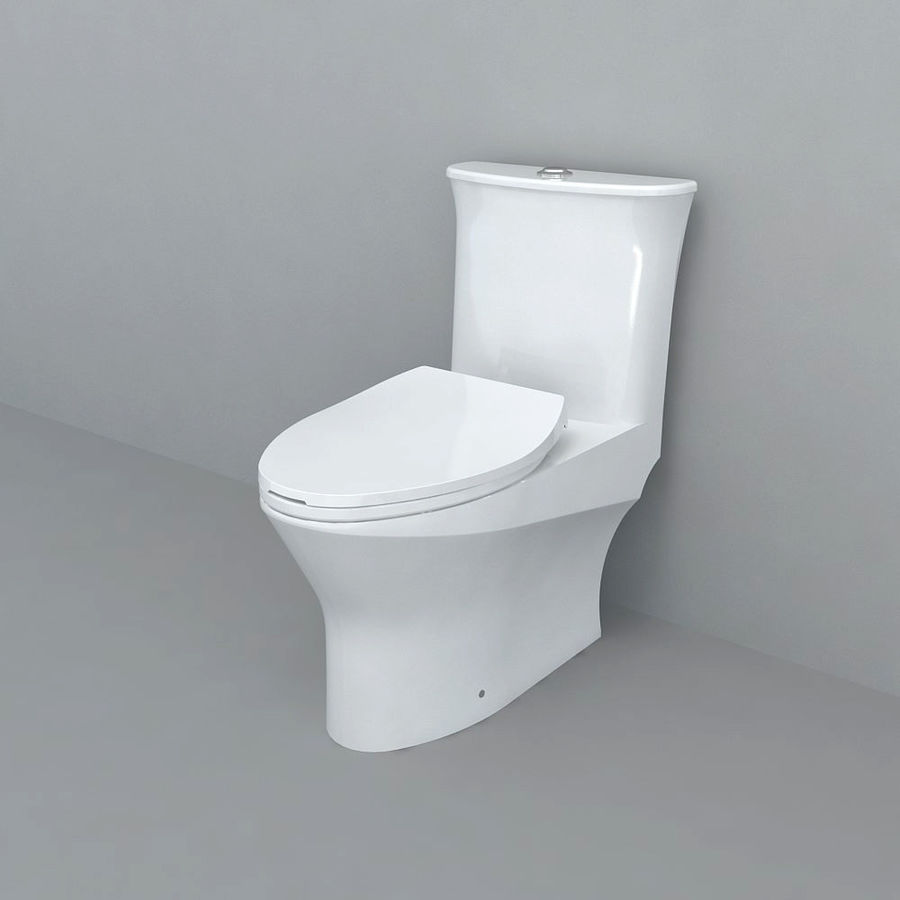 toilet(65) royalty-free 3d model - Preview no. 1