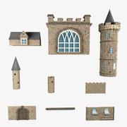 Części zamku 3d model