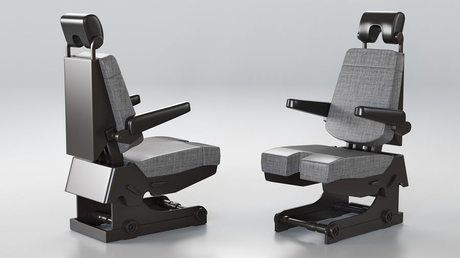 Pilot Seat royalty-free 3d model - Preview no. 2