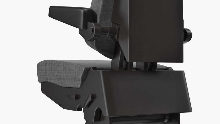 Pilot Seat royalty-free 3d model - Preview no. 9