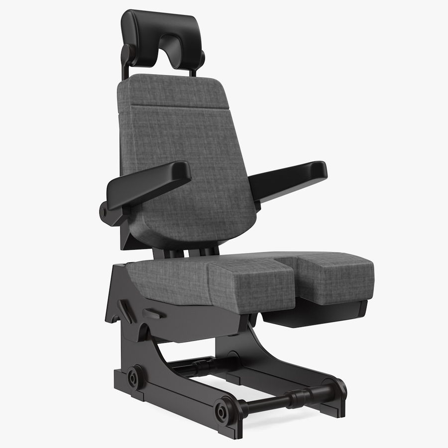 Pilot Seat royalty-free 3d model - Preview no. 1