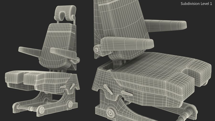 Pilot Seat royalty-free 3d model - Preview no. 15