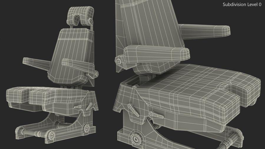 Pilot Seat royalty-free 3d model - Preview no. 14
