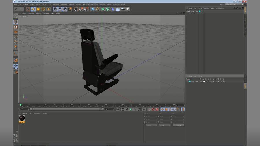 Pilot Seat royalty-free 3d model - Preview no. 19