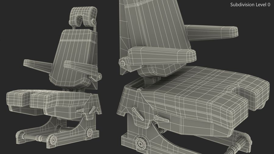 Pilot Seat royalty-free 3d model - Preview no. 14