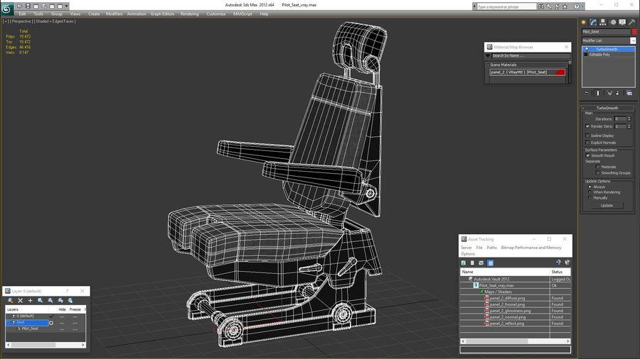 Pilot Seat royalty-free 3d model - Preview no. 20