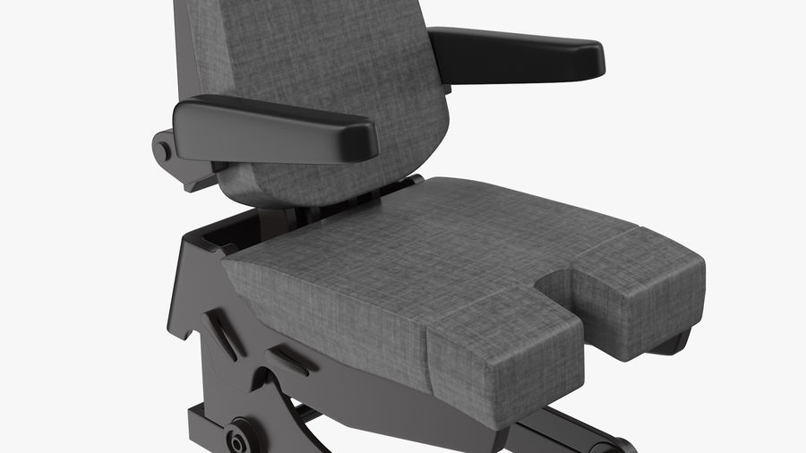 Pilot Seat royalty-free 3d model - Preview no. 7