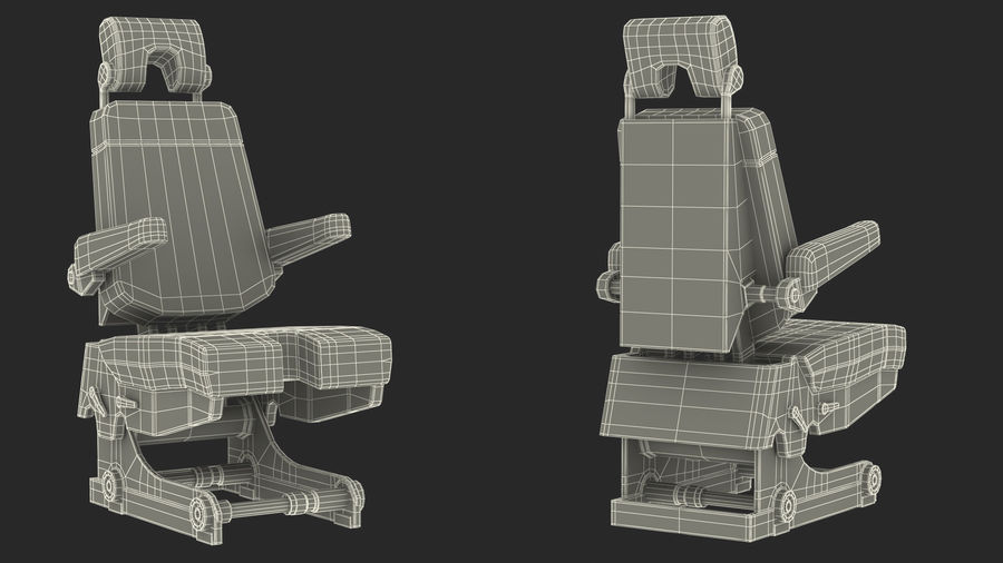 Pilot Seat royalty-free 3d model - Preview no. 21