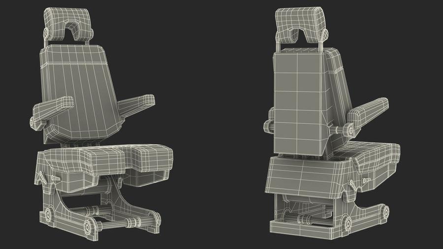 Pilot Seat royalty-free 3d model - Preview no. 21