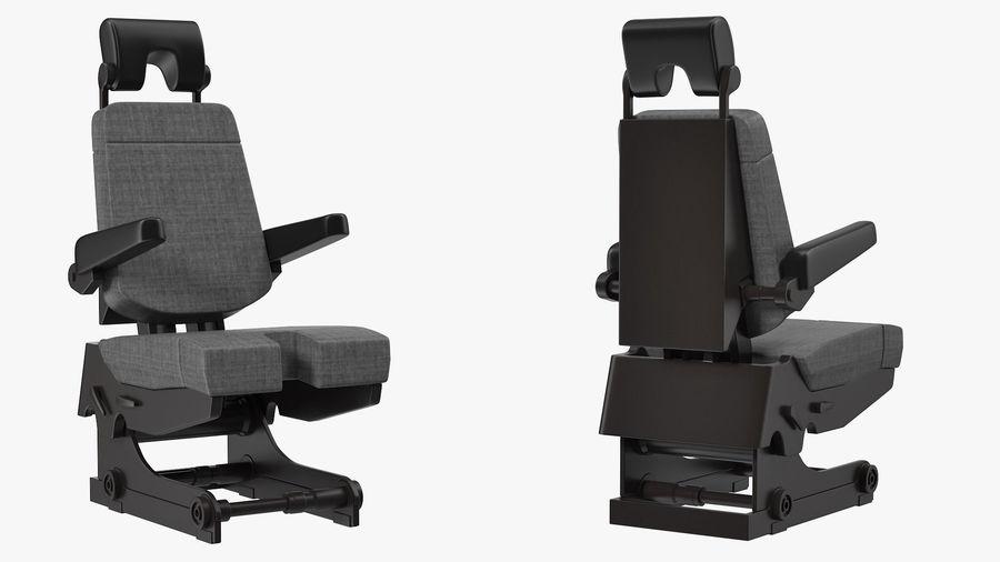 Pilot Seat royalty-free 3d model - Preview no. 4