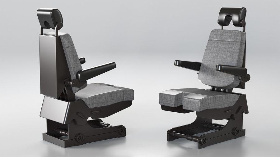 Pilot Seat royalty-free 3d model - Preview no. 3