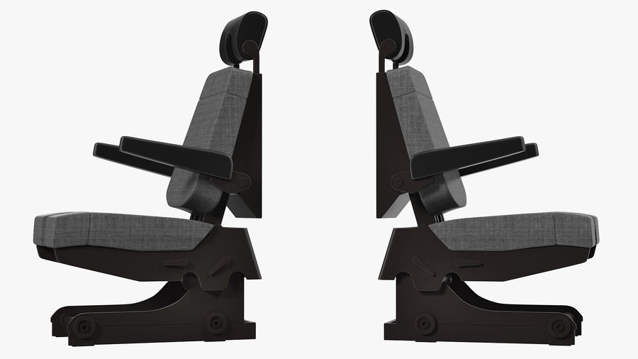 Pilot Seat royalty-free 3d model - Preview no. 5