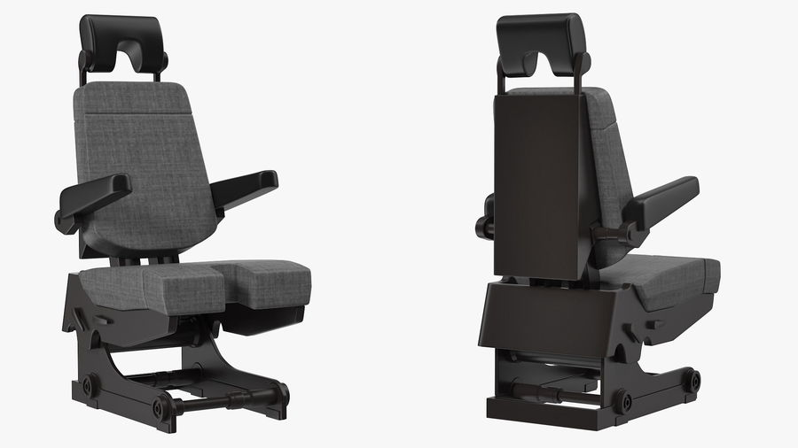 Pilot Seat royalty-free 3d model - Preview no. 4