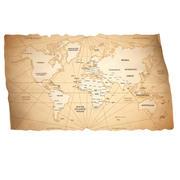 Карта Старого Света 3d model