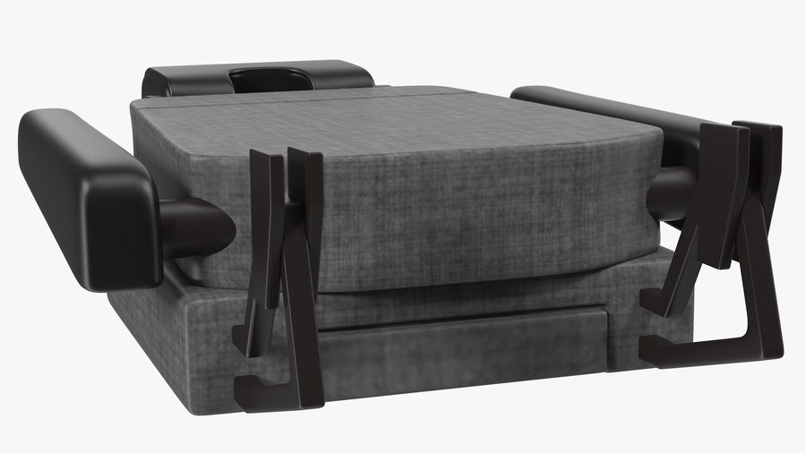 Stewardess Folded Seat royalty-free 3d model - Preview no. 9