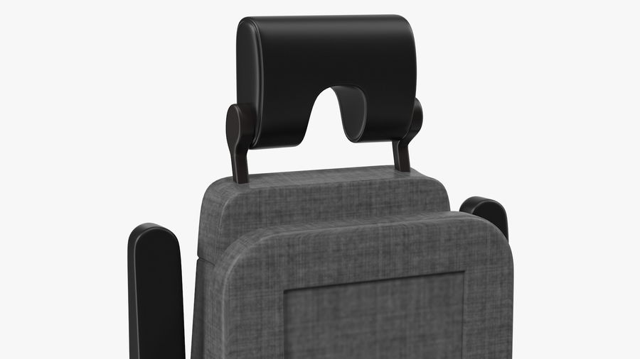 Stewardess Folded Seat royalty-free 3d model - Preview no. 7