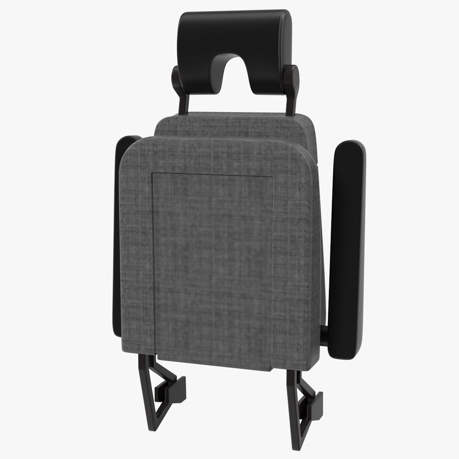 Stewardess Folded Seat royalty-free 3d model - Preview no. 1