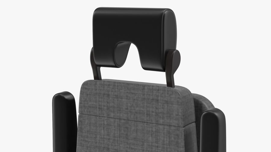 Stewardess Folded Seat royalty-free 3d model - Preview no. 6