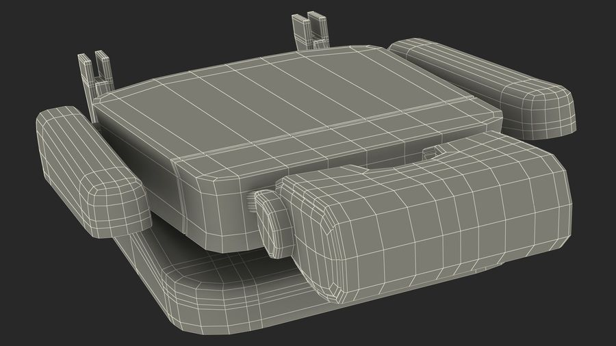 Stewardess Folded Seat royalty-free 3d model - Preview no. 19