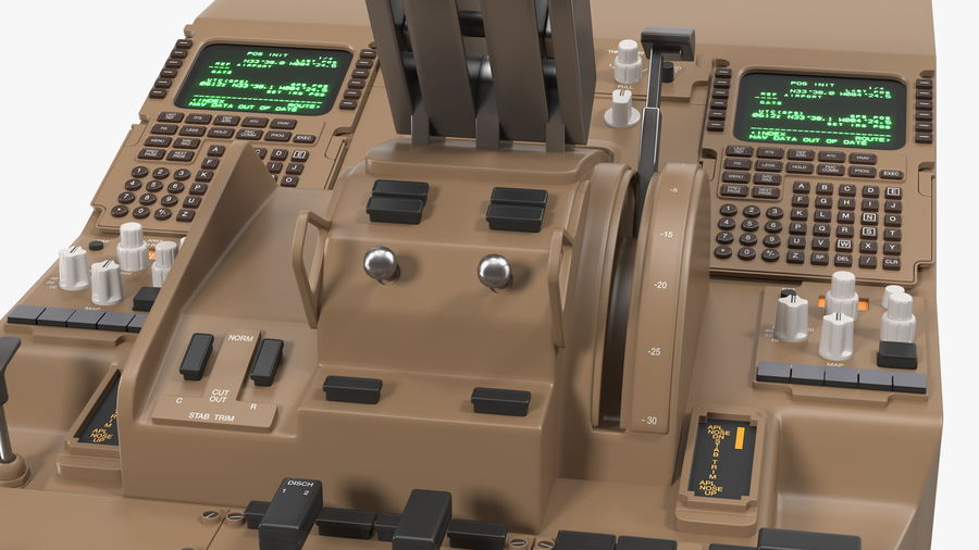 Throttle Control Panel royalty-free 3d model - Preview no. 13