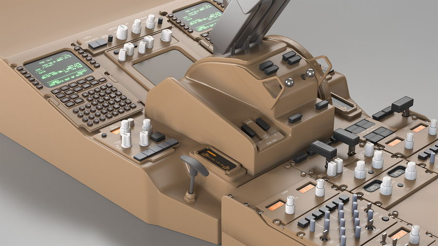 Throttle Control Panel royalty-free 3d model - Preview no. 15
