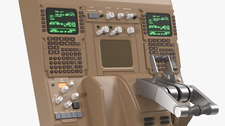 Throttle Control Panel royalty-free 3d model - Preview no. 14