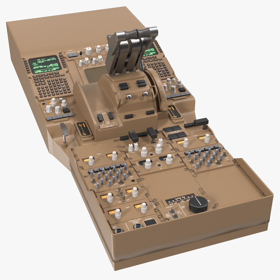 Throttle Control Panel royalty-free 3d model - Preview no. 1