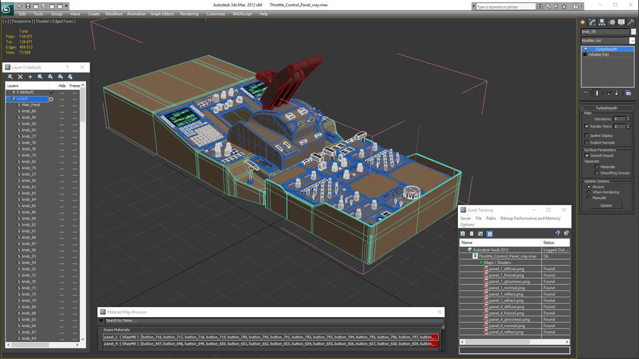 Throttle Control Panel royalty-free 3d model - Preview no. 22