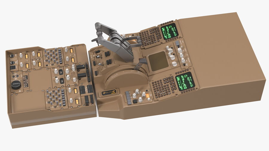Throttle Control Panel royalty-free 3d model - Preview no. 6