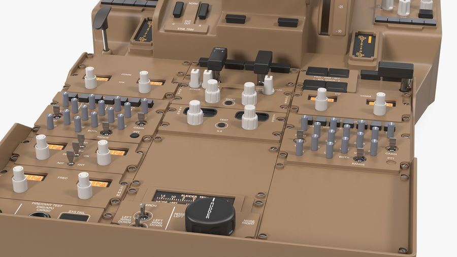 Throttle Control Panel royalty-free 3d model - Preview no. 12