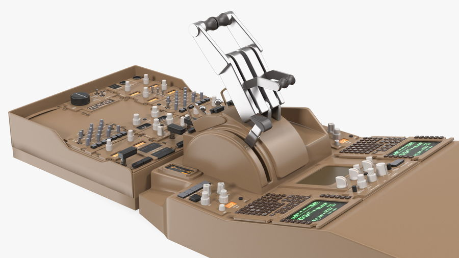 Throttle Control Panel royalty-free 3d model - Preview no. 8