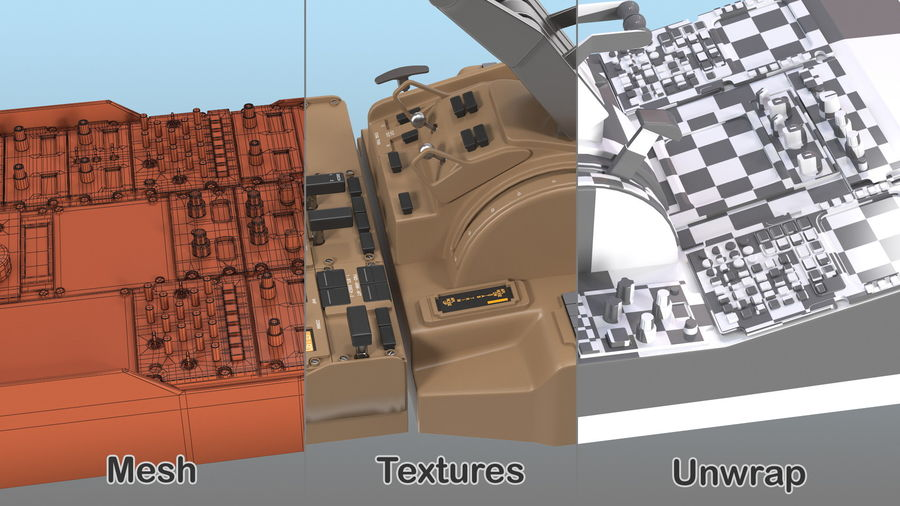 Throttle Control Panel royalty-free 3d model - Preview no. 4