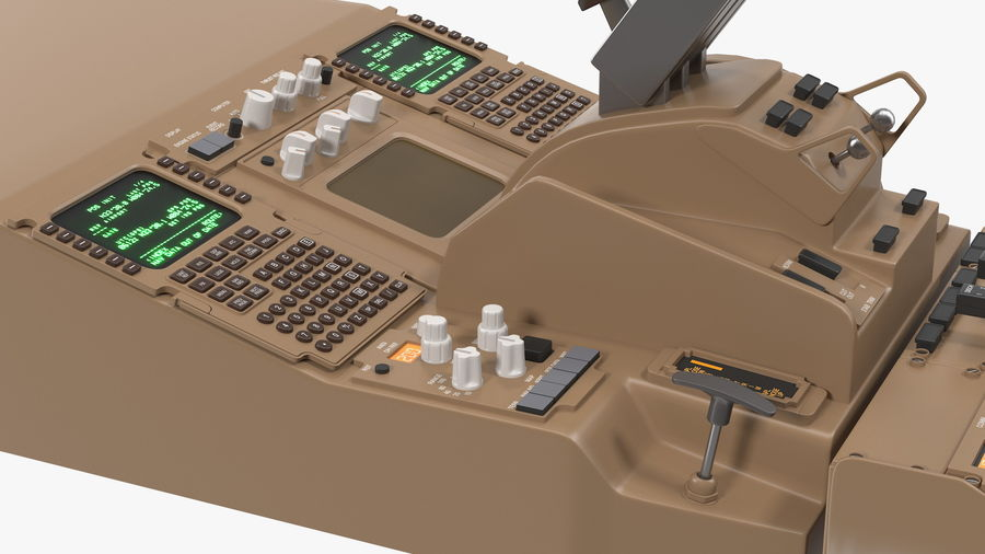 Throttle Control Panel royalty-free 3d model - Preview no. 10